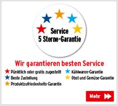 5 Sterne Service-Garantie - Wir garantieren besten Service