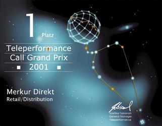 Urkunde Teleperformance Call Grand Prix 2001