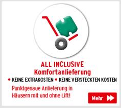 All Inclusive Komfortanlieferung - Punktgenaue Anlieferung in Häusern mit und ohne Lift!