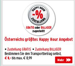 Österreichs größtes Happy Hour Angobot - 37 Lieferzeiten wöchentlich zur Auswahl - link öffnet neues Fenster